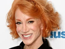 Kathy Griffin reshares controversial Trump severed head photo minutes after president falsely claims election victory