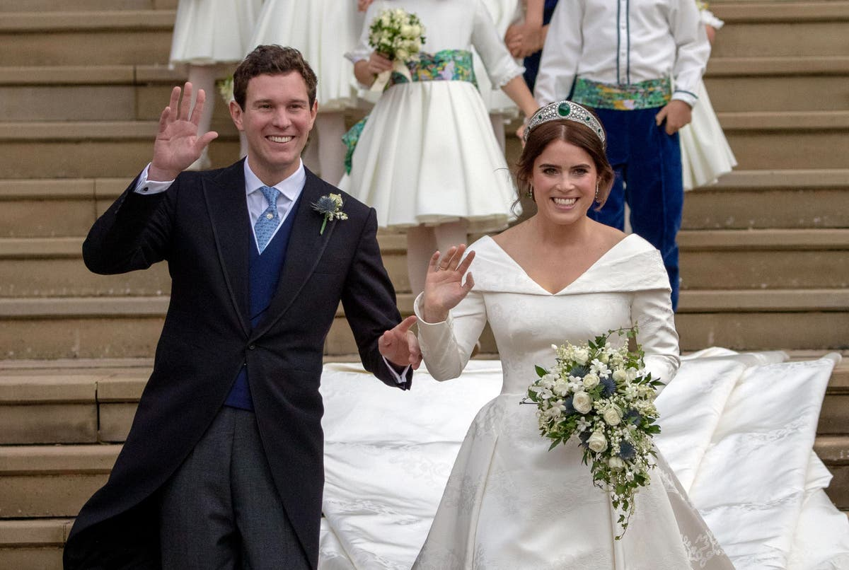 Princess Eugenie shares new wedding photo to celebrate third anniversary