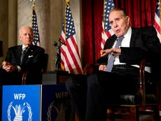 Bob Dole visited by Biden after announcing cancer diagnosis