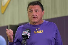 LSU's Orgeron gives lawmakers statement on Guice complaint