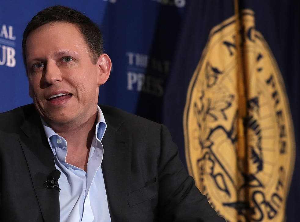 <p>Peter Thiel pictured in at the National Press Club on 31 October, 2016 in Washington, DC</p>