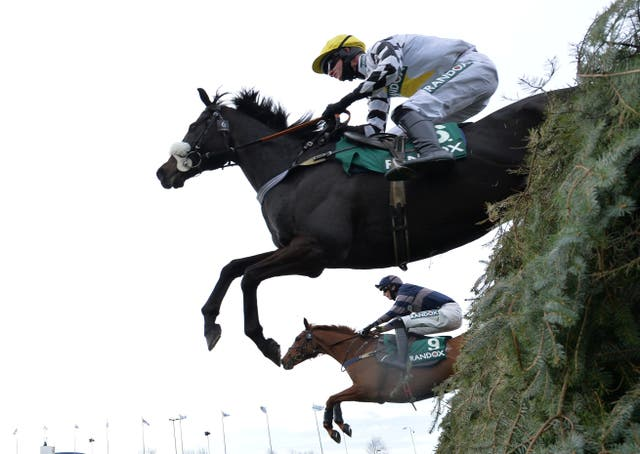 Cousin Pascal ridden by James King clears the chair on their way to winning the 4:05
