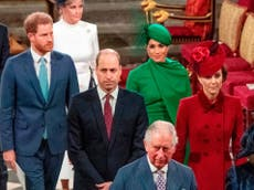 Kate and Prince William did not meet Harry after their grandfather Philip's funeral, claims royal historian