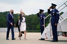 Biden news - live: President quadruples refugee cap as adviser suggests he 'wears mask outside out of habit'