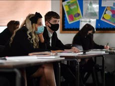 Face masks in secondary school classrooms to be scrapped next week, government confirms