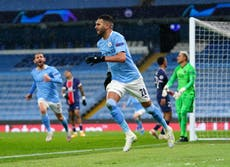Man City vs PSG LIVE: Champions League result and reaction tonight