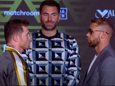 Canelo vs Saunders press conference LIVE: Latest updates ahead of super middleweight fight