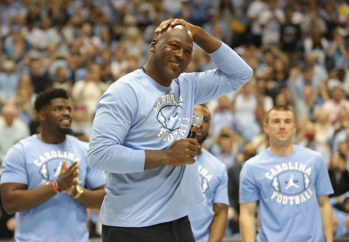 Michael Jordan game-worn North Carolina jersey sells for record £1m