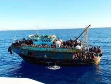More than 2,100 migrants arrive on Italian island of Lampedusa
