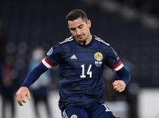 Scotland midfielder Kenny McLean to miss Euro 2020 with knee injury