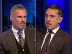 Gary Neville and Jamie Carragher disagree over Premier League teams of the season