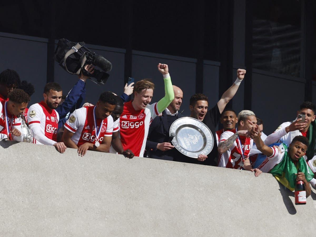 Ajax melt down Eredivisie trophy into 42,000 'champion stars' for fans