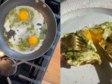 Four ways to spice up TikTok's viral pesto eggs recipe