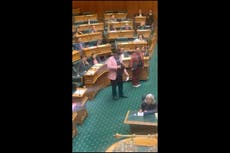 New Zealand MP thrown out of parliament for performing Maori haka in protest against 'racist arguments'