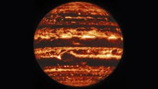Nasa releases astounding images of Jupiter – and finds a mystery in its Giant Red Spot