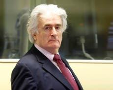 Radovan Karadzic: Former Bosnian Serb leader to be moved to UK prison to serve sentence for Srebrenica genocide