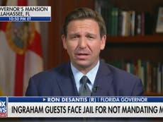 Florida governor Ron DeSantis announces pardons for Covid rule breakers