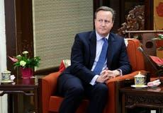 Ex-UK PM Cameron grilled over links to bankrupt finance firm