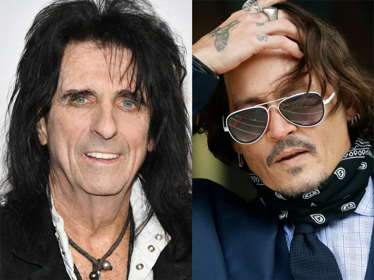 Alice Cooper calls bandmate Johnny Depp 'the most harmless human being I've ever met'