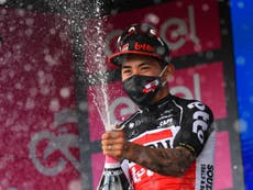 Giro d'Italia: Caleb Ewan shines again to win stage seven