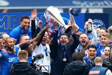 Rangers beat Aberdeen to seal unbeaten league season before lifting Scottish Premiership trophy