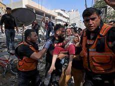 Israel-Gaza live: Israeli military destroys home of senior Hamas leader as airstrikes kill 26 Palestinians