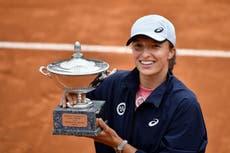 Iga Swiatek demolishes Karolina Pliskova with double-bagel victory in Italian Open final