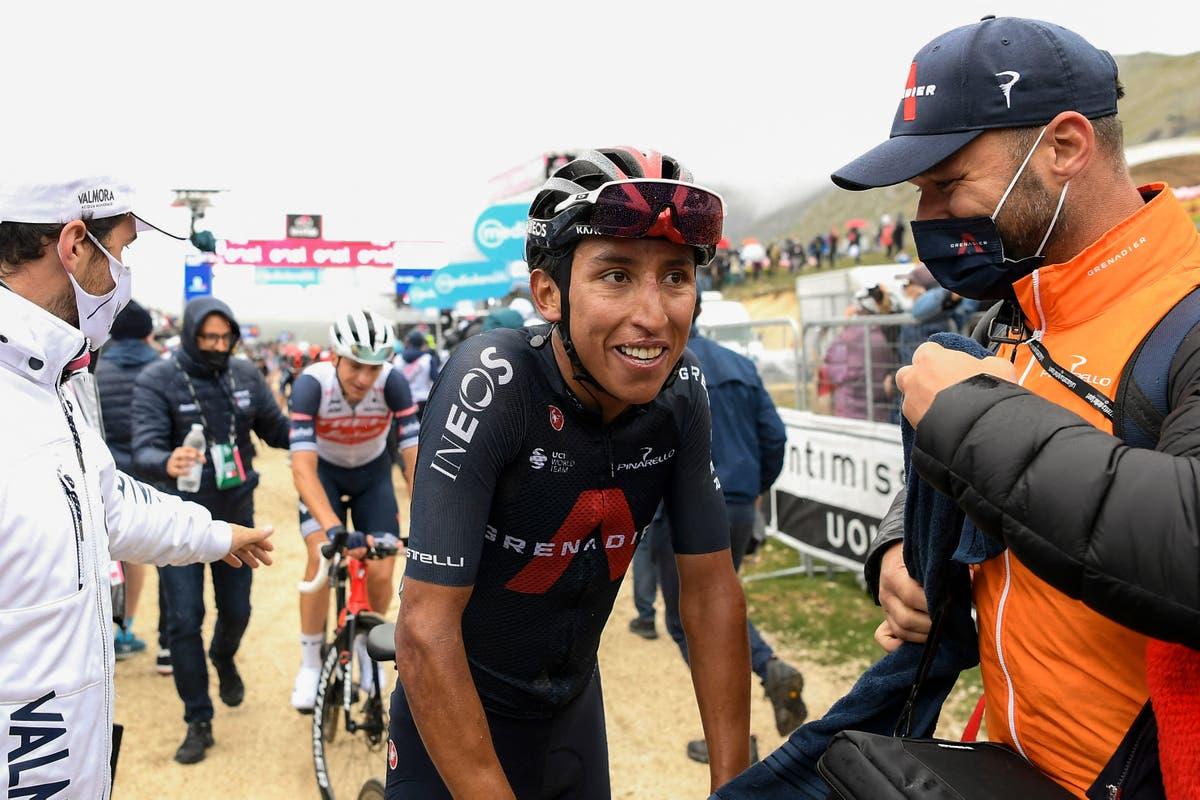 Egan Bernal blasts past rivals to take Giro D'Italia lead