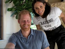 Meghan makes cameo appearance in trailer for Harry and Oprah's mental health series wearing slogan t-shirt