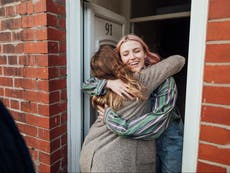 'I'm never letting go': People on their first hug in more than a year
