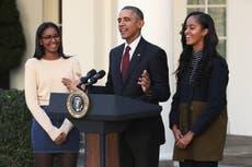 Obama jokingly claims Malia and Sasha have 'PTSD' from Secret Service agents accompanying them on dates
