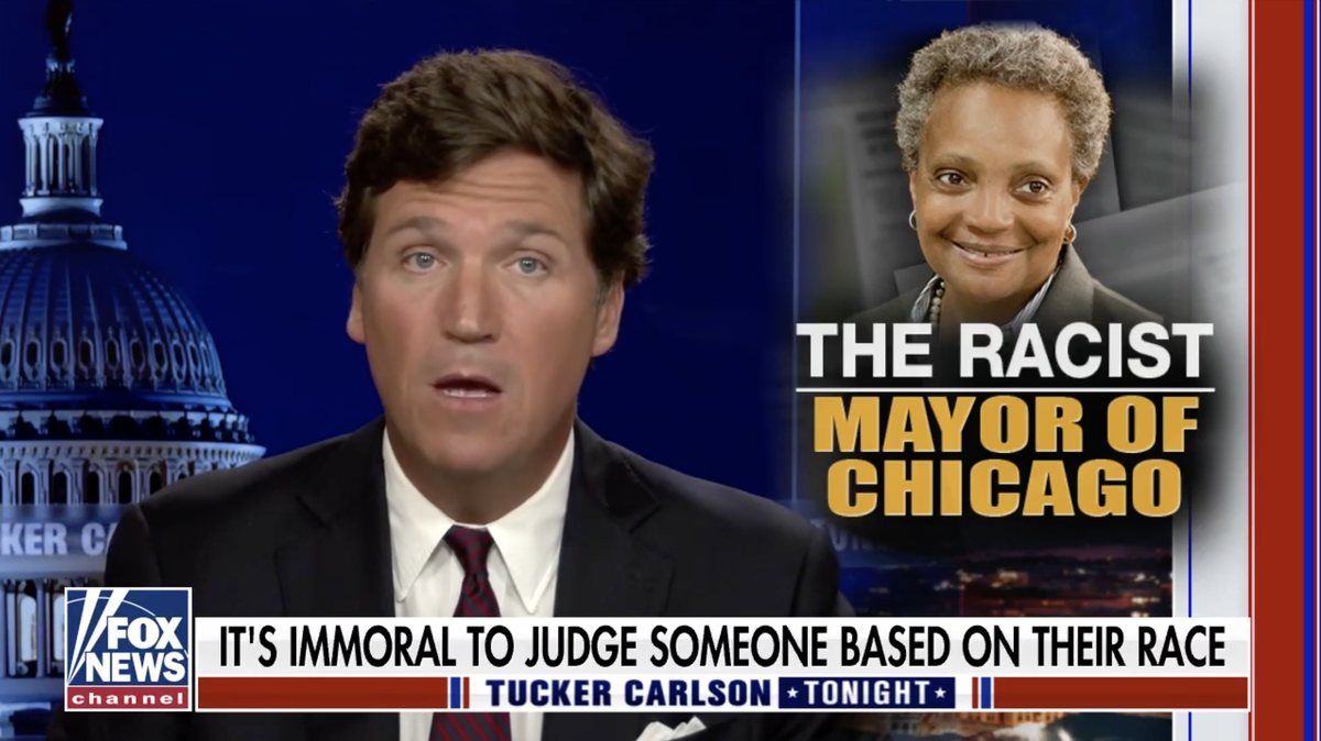 'Lori Lightfoot is a monster': Tucker Carlson compares Chicago mayor to Nazis over her policy favouring Black journalists