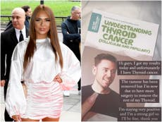 Demi Jones: Love Island star diagnosed with thyroid cancer
