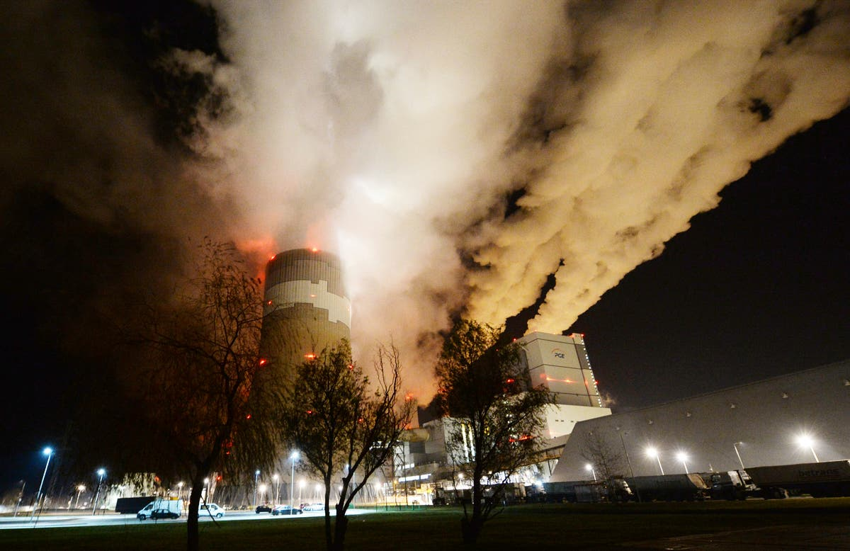 Firefighters battle flames at Poland's largest lignite mine