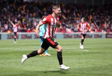Brentford into Championship play-off final after late win over 10-man Bournemouth