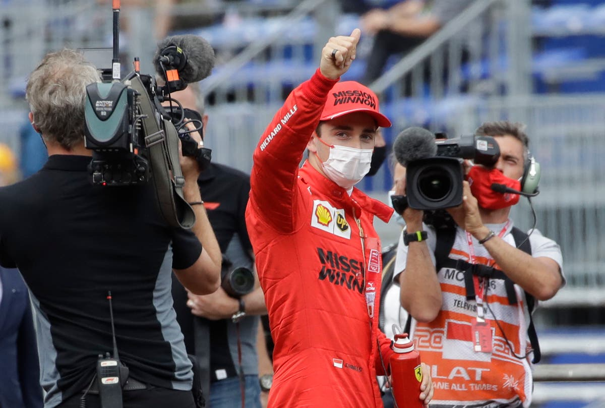 Charles Leclerc claims Monaco pole but ends qualifying with heavy crash