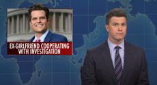 Saturday Night Live: Colin Jost mocks 'future of Republican party' Matt Gaetz