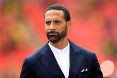 Police make an arrest after a racist gesture was made towards Rio Ferdinand
