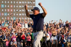 Phil Mickelson lauded after US PGA Championship win – Monday's sporting social