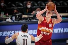 Nikola Jokic helps Denver Nuggets level series with Portland Trail Blazers