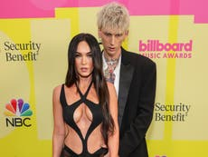 Megan Fox jokingly points out issue with her and Machine Gun Kelly's Billboard Music Award photos
