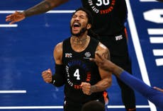 Derrick Rose leads the way as New York Knicks win first play-off game since 2013