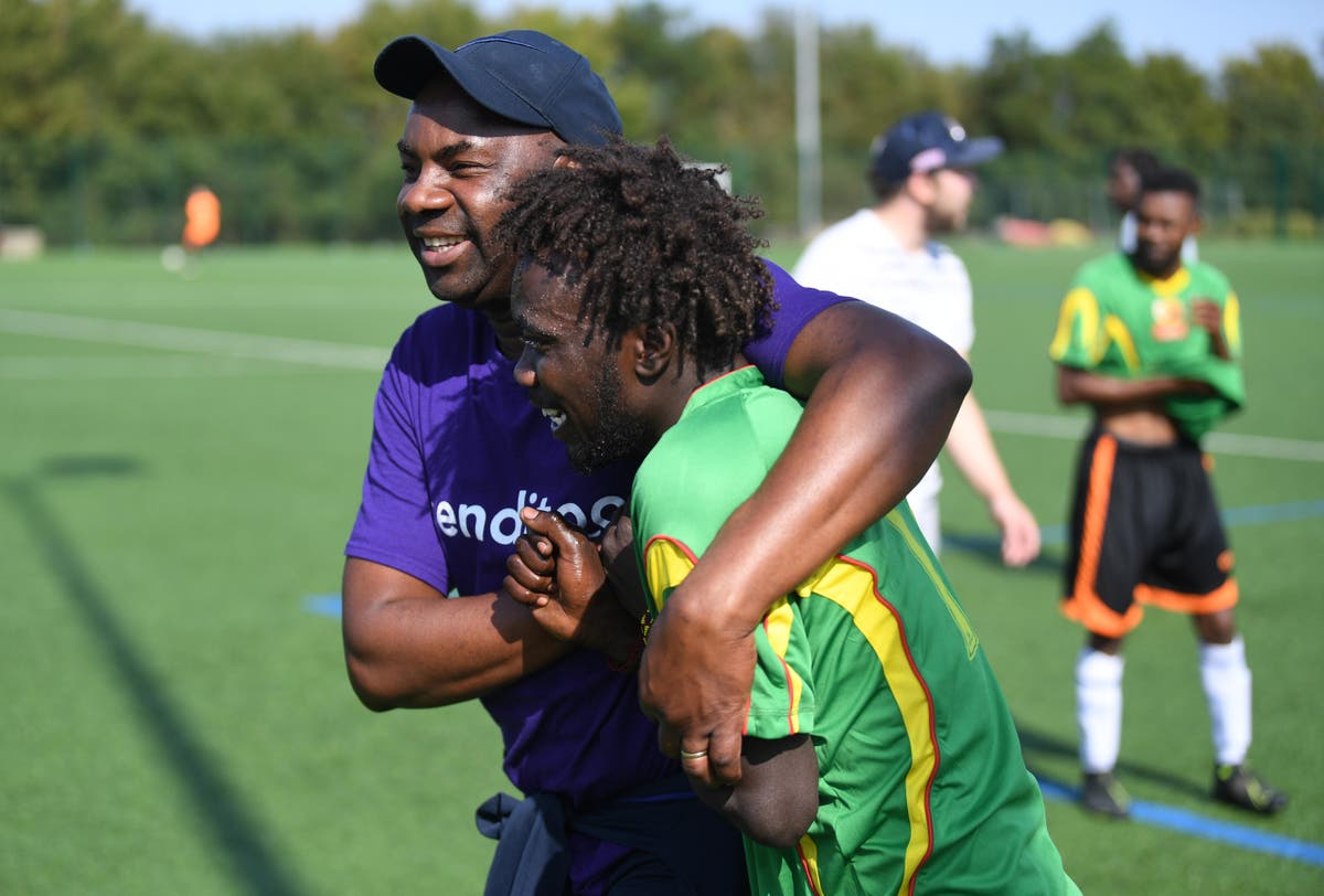 Spirit of Unity: Football helping refugees find their feet in England