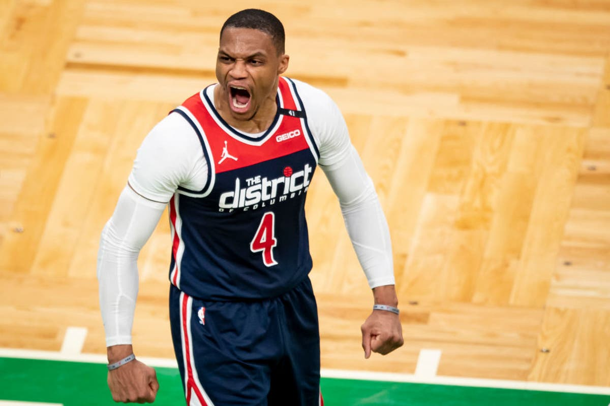 Philadelphia 76ers fan banned after pouring popcorn on Russell Westbrook during NBA playoff game