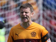Motherwell's Stephen Craigan relishing Airdrie tie after Premier Sports Cup draw