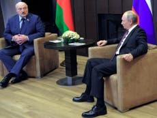 Putin hosts 'toxic' Lukashenko for talks in Sochi