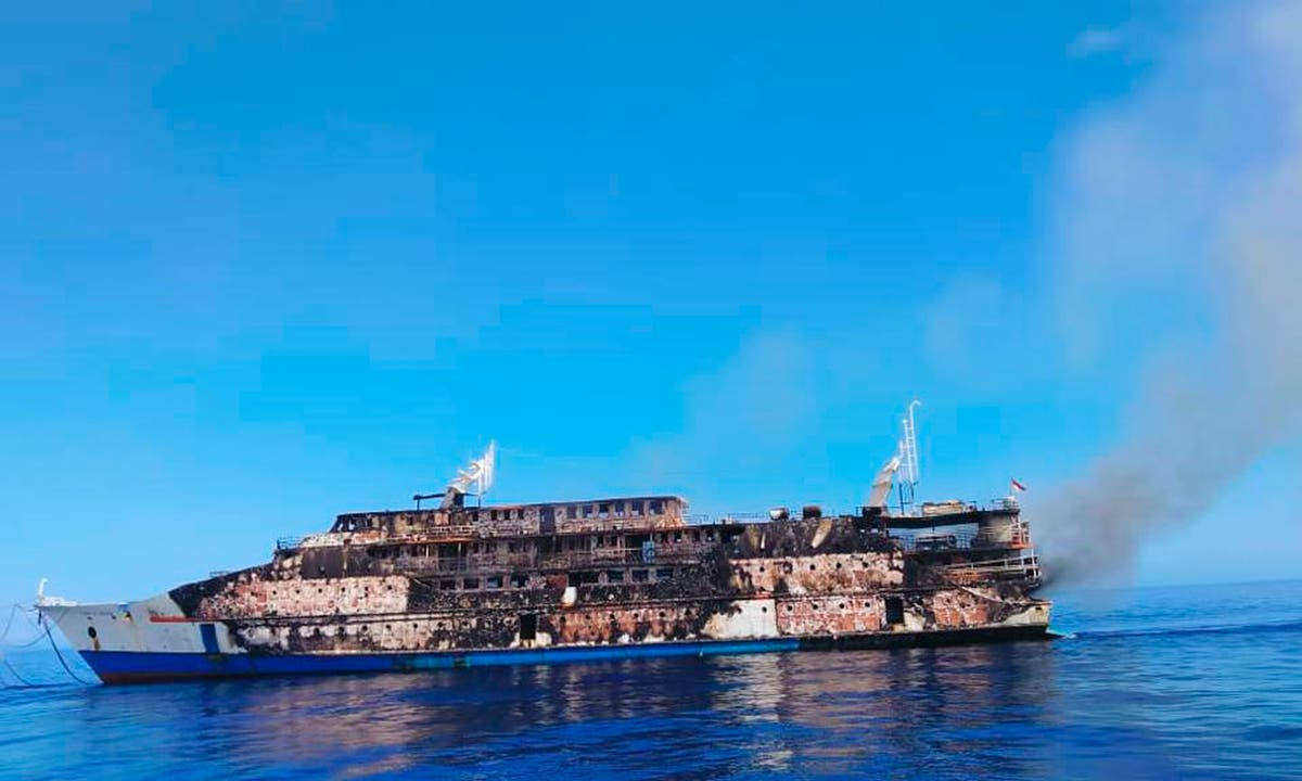 Indonesia ferry catches fire at sea; no casualties