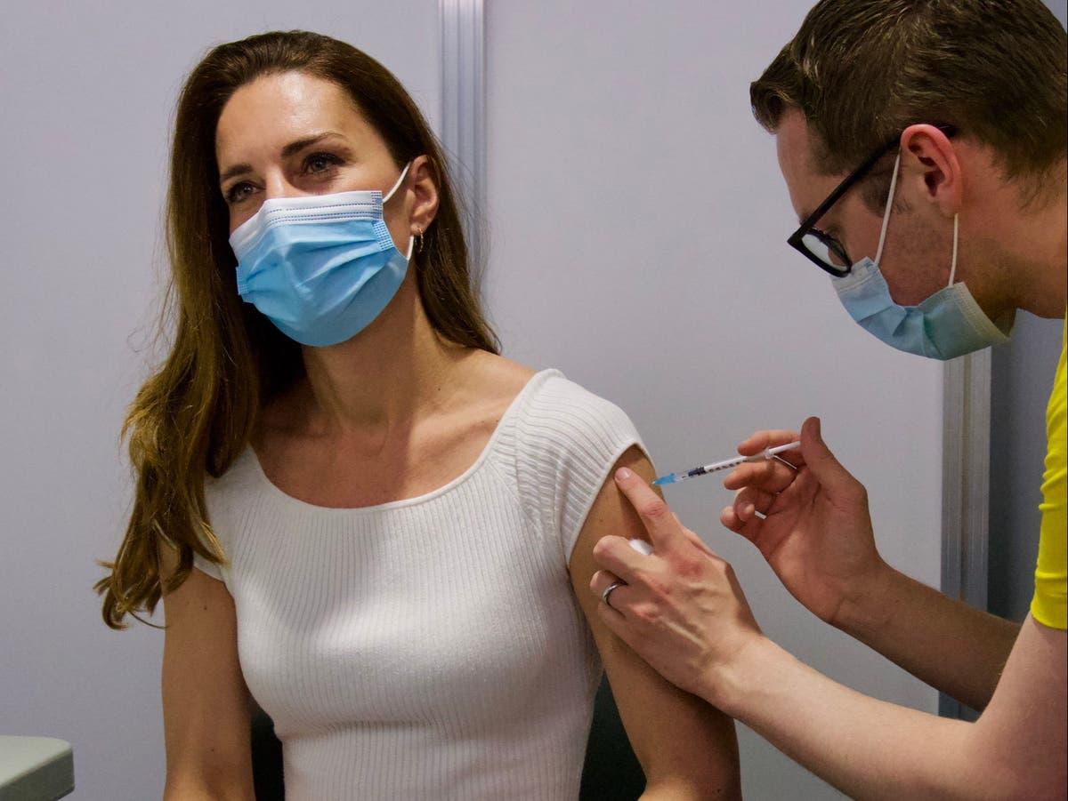 Duchess of Cambridge gets first dose of coronavirus vaccine