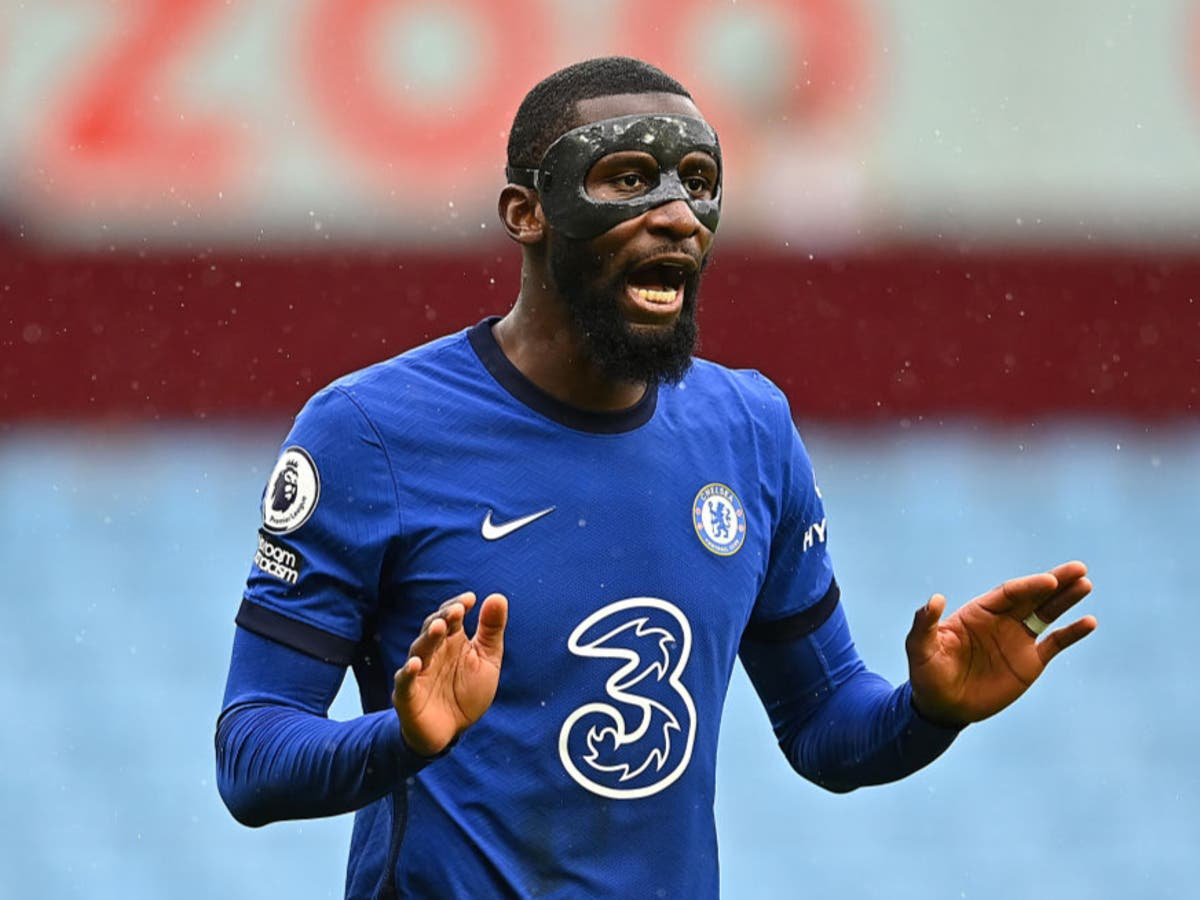 Why is Antonio Rudiger wearing a mask for Man City vs Chelsea