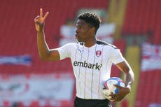 Cristiano Ronaldo helped Chiedozie Ogbene to head in the right direction